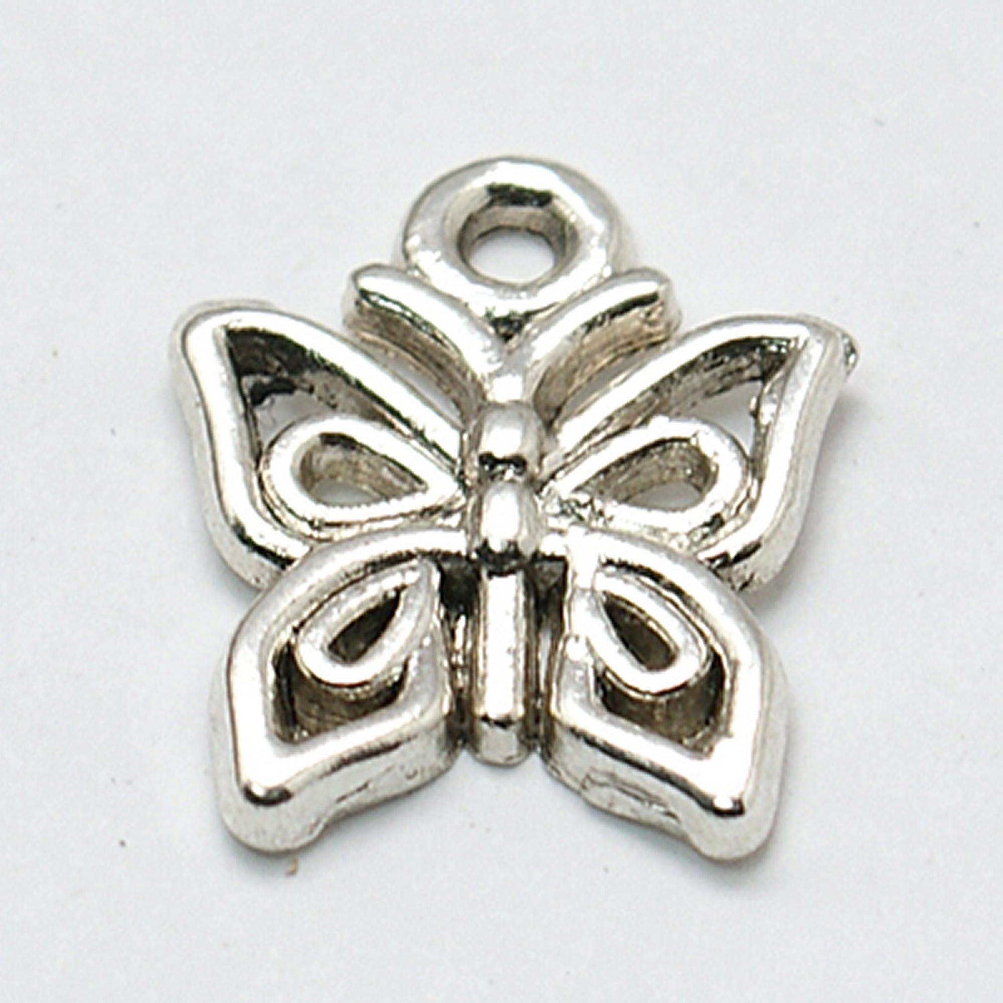 10g Approx 30pcs Tibetan Silver Colour Love Charm