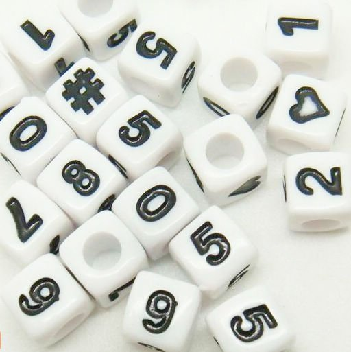7mm PLASTIC NUMBER CUBE