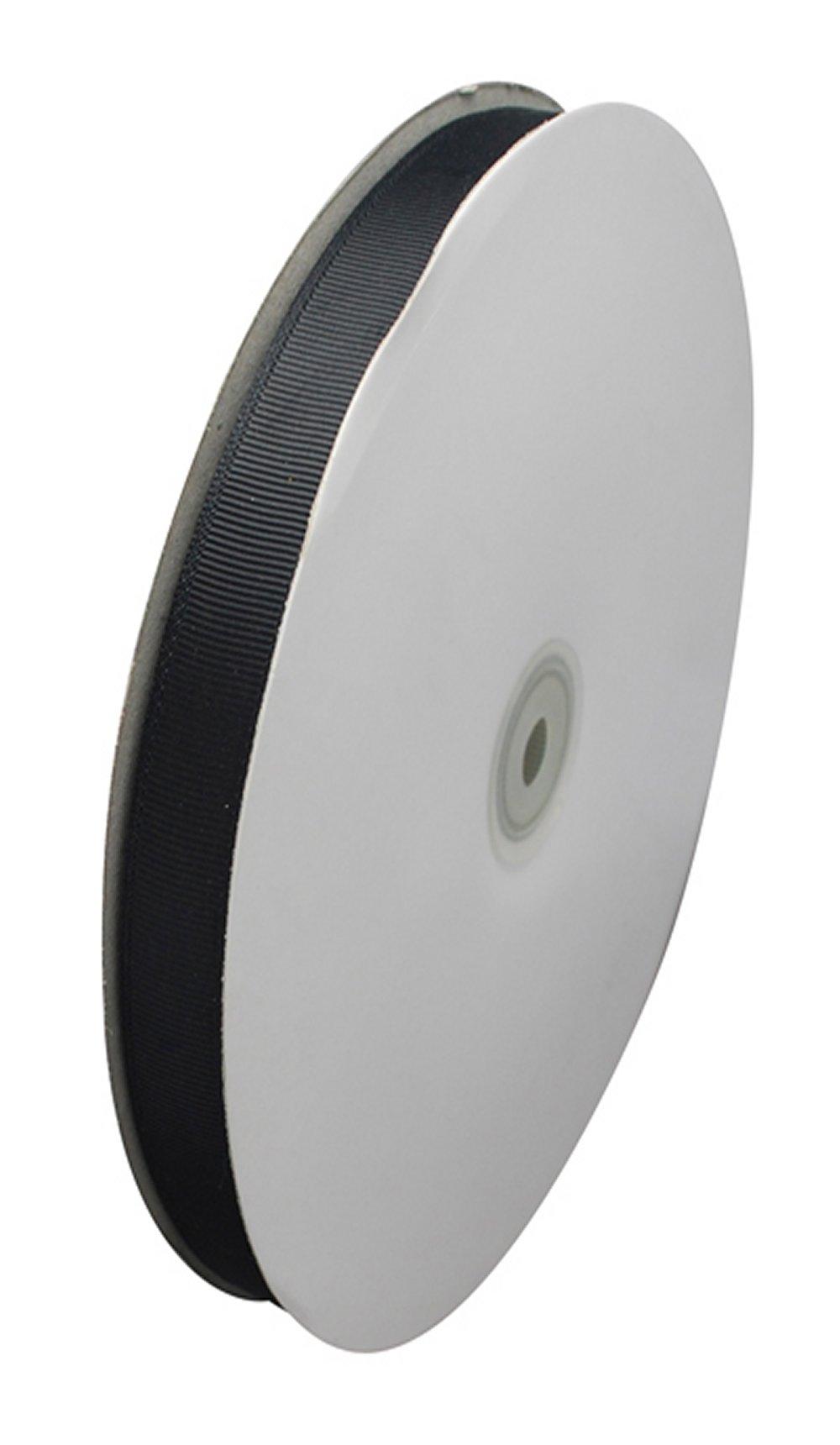 10mm BLACK GROSGRAIN RIBBON