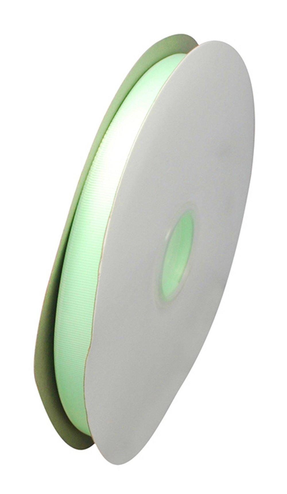 10mm PALE GREEN GROSGRAIN RIBBON