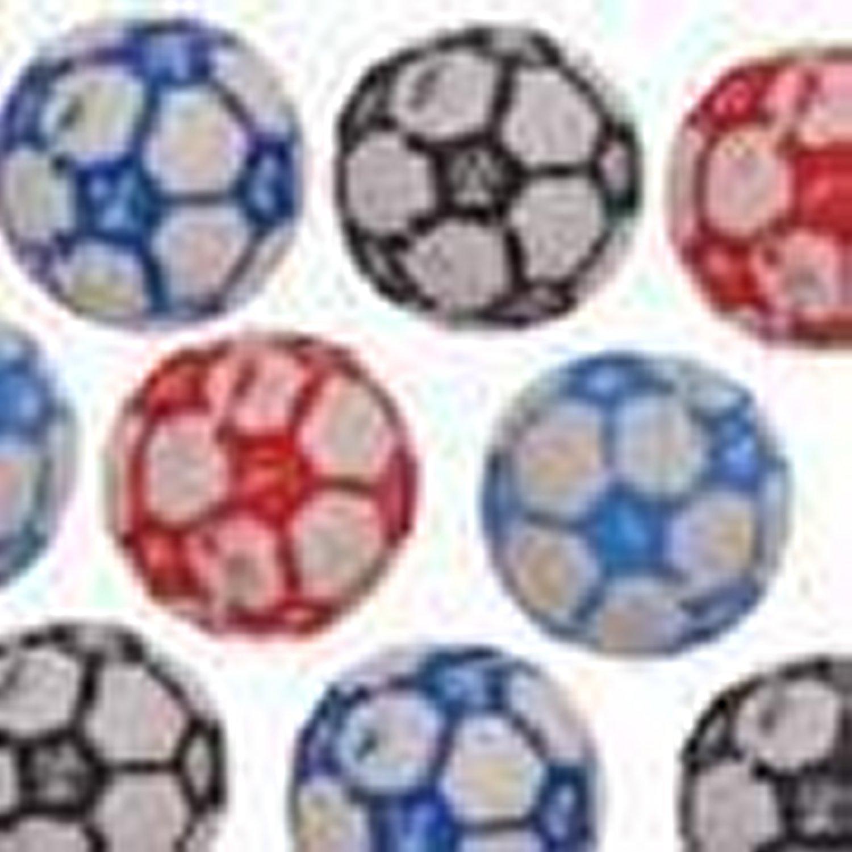 10mm Football Pony Beads