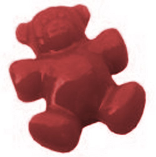10 x 25mm Teddy Bear Pony Beads Opaque, Red