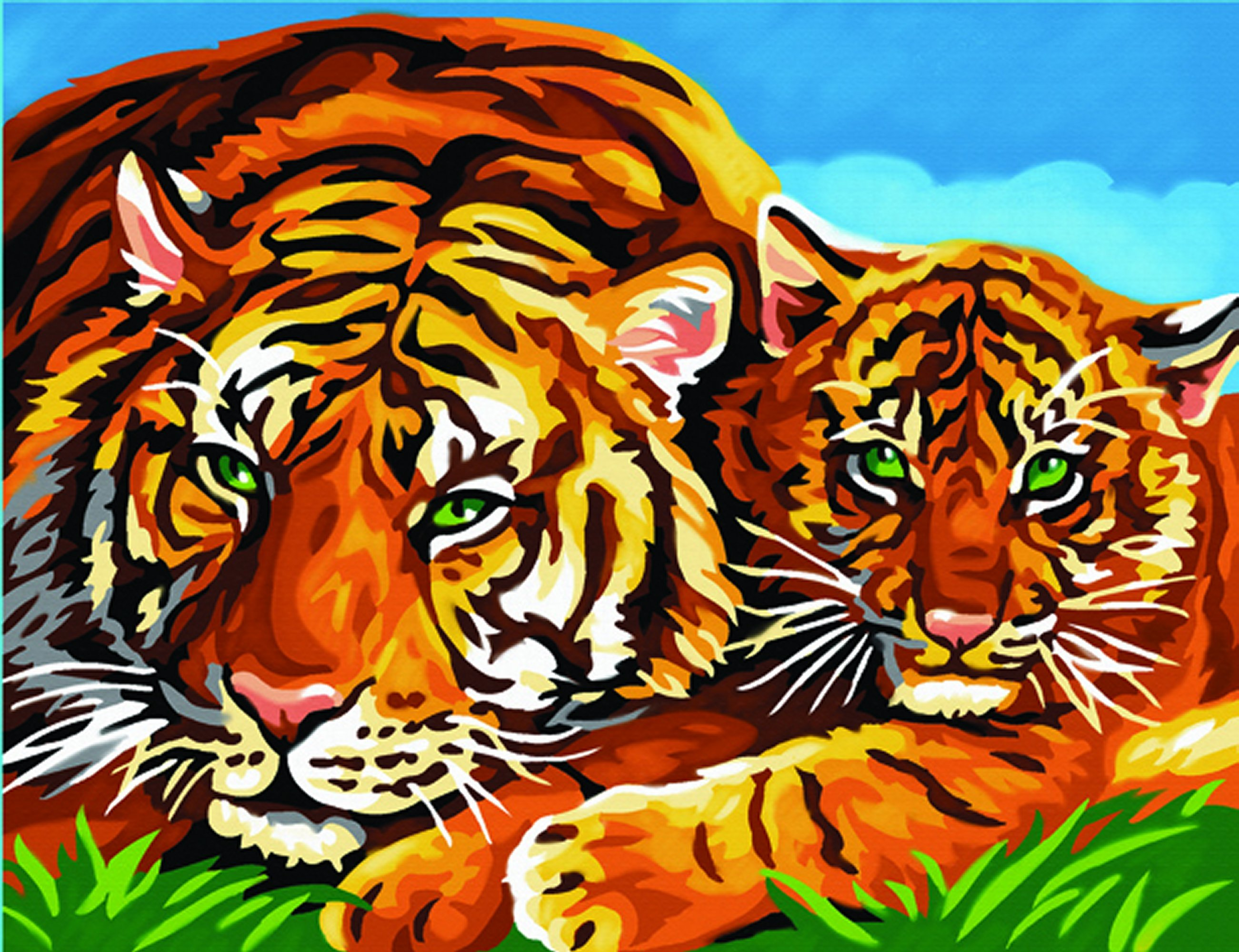 Senior Painting by Numbers Tigers 1039