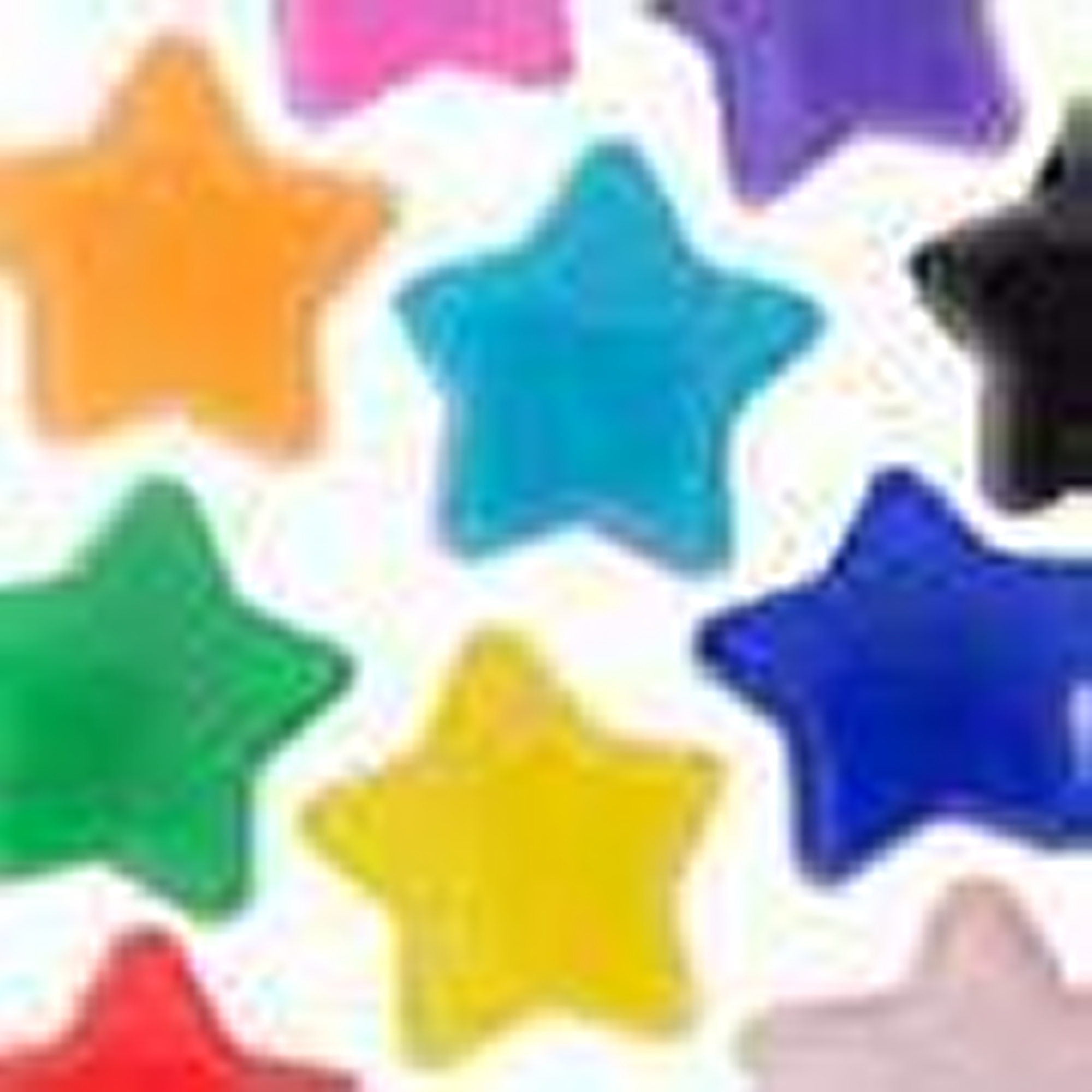 Opaque Star Pony Beads Single Colour