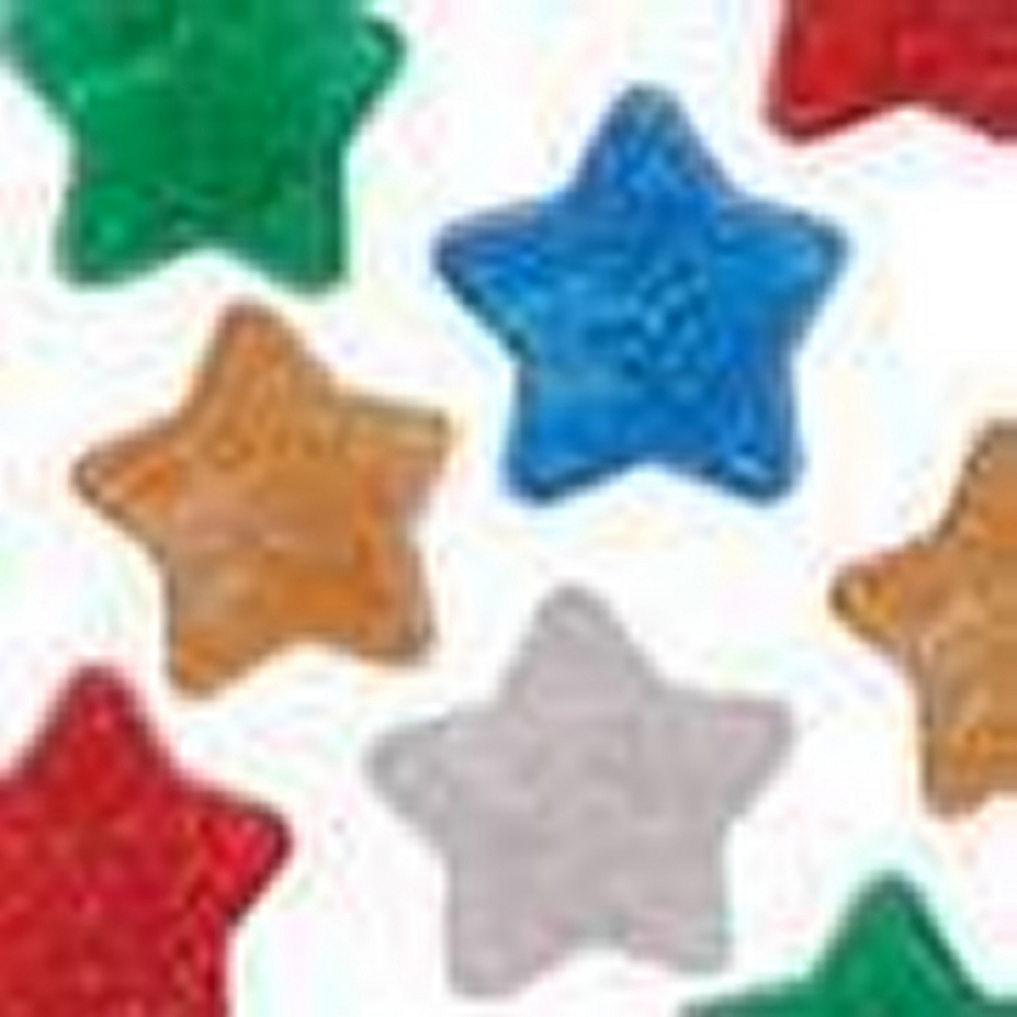 Glitter Star Pony Beads Single Colour