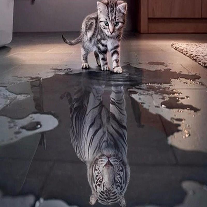 5D DIY Diamond Painting Tiger (#11)