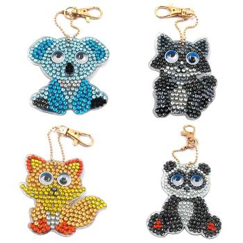 Diamond Painting Buddies Key Rings Kit 4pack