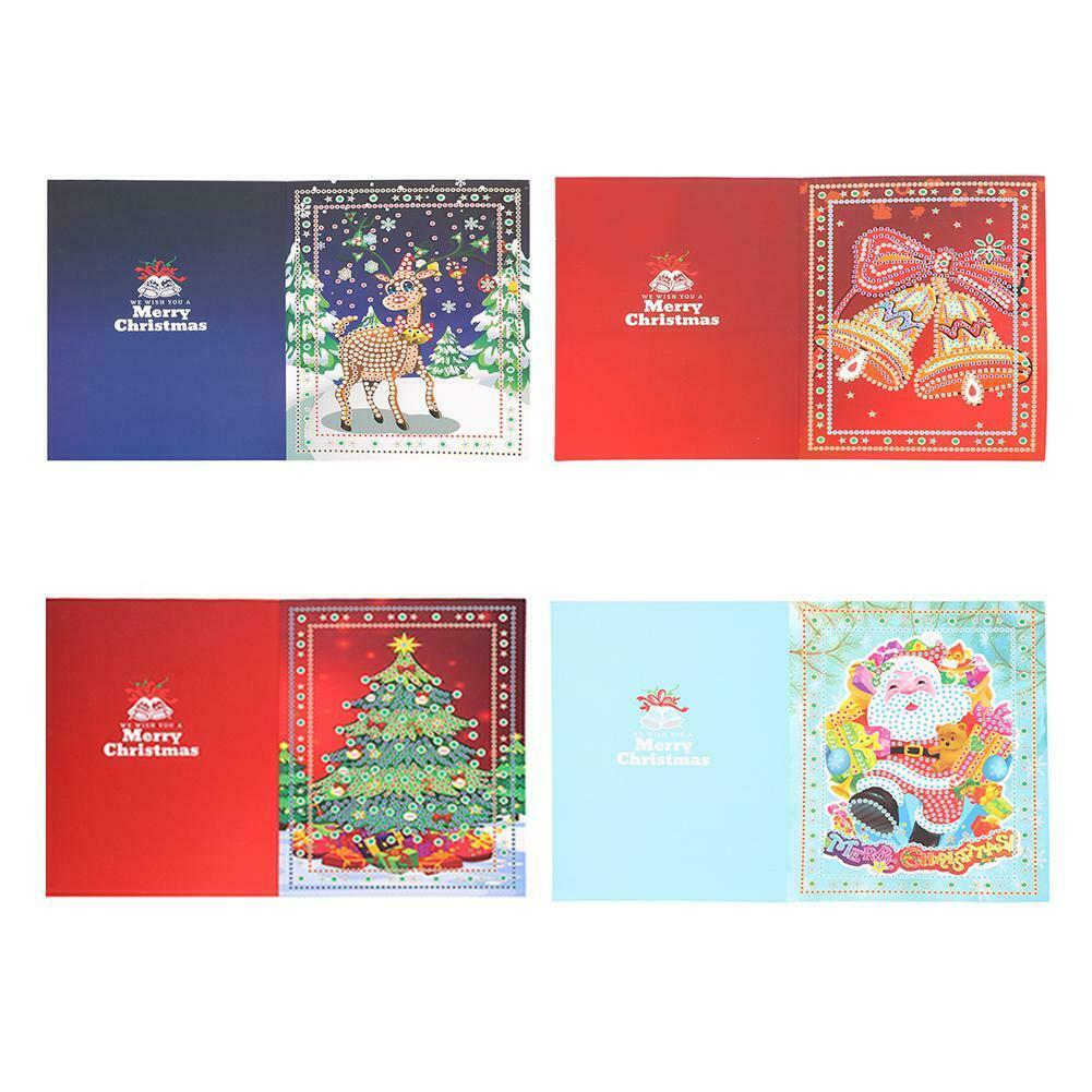 4 x Diamond Painting Christmas Cards