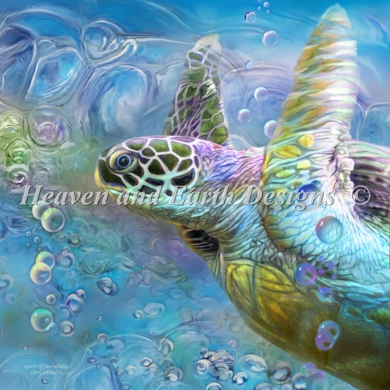 Mini Sea Turtle Spirit Of Serendipity DIAMONDS ONLY