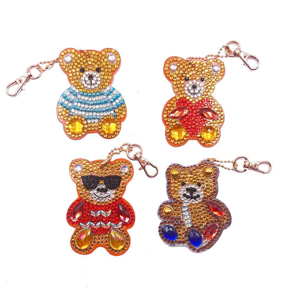 Diamond Painting Bear Key Rings Kit