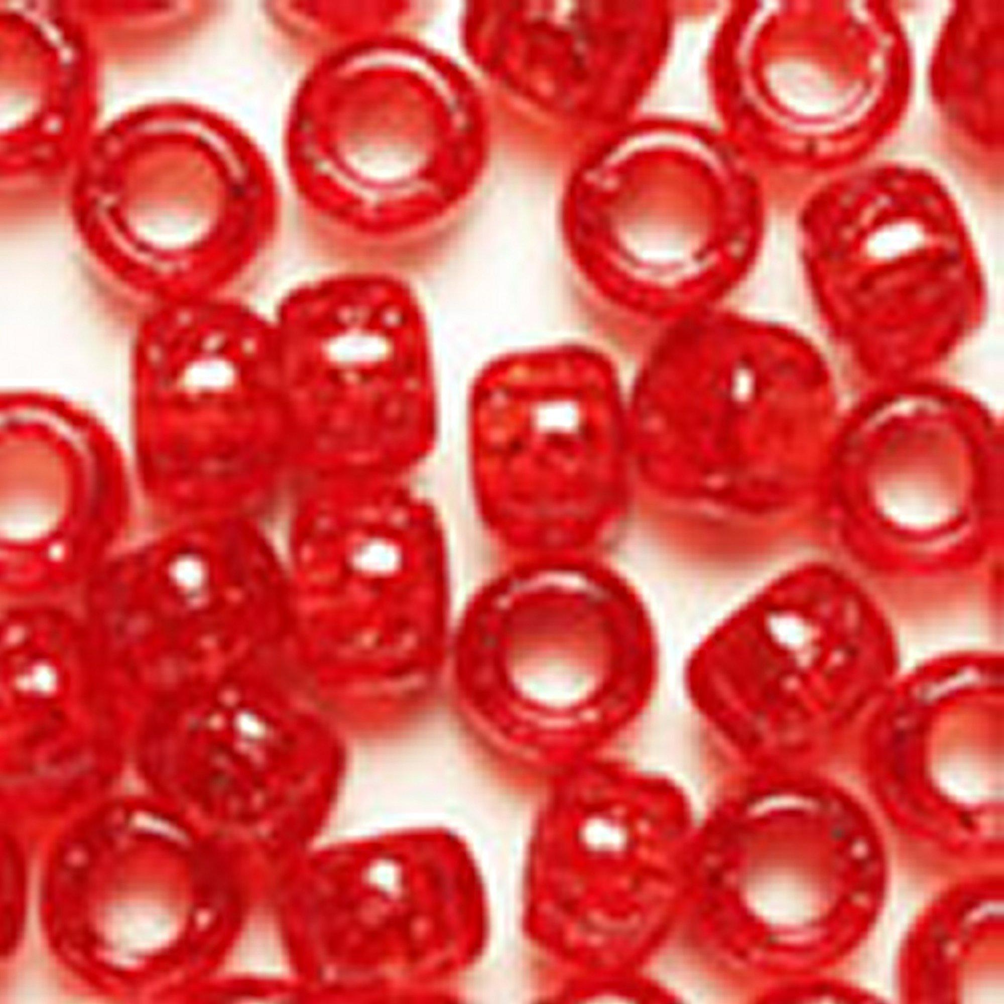 RED GLITTER PONY BEADS