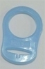 MAM Style Silicone Dummy Adapters Transparent Blue