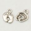 Tibetan Silver Colour Feet Charm