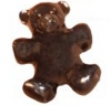 10 x 25mm Teddy Bear Pony Beads Opaque, Chocolate