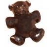 10 x 25mm Teddy Bear Pony Beads Opaque, Chocolate