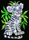 Sequin Art Toby White Tiger Cub 0906