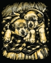 Artfoil Gold Puppies 1032