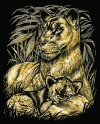 Artfoil Gold Lion and Cub 0603