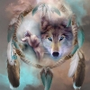 5D DIY Diamond Painting Dream Catcher Wolf (#02)