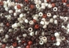 MIXED BROWN PONY BEADS